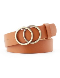 Fashion Camel Round Buckle Belt