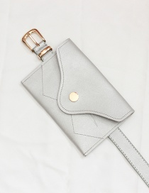 Fashion Silver + Gold Buckle Mini Mobile Phone Bag Belt