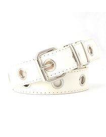 Fashion White (no Chain) Flow Ring Decorative Chain Belt