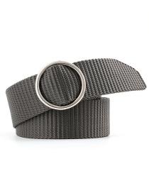 Fashion Dark Gray Canvas Belt