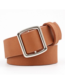 Fashion Camel Needle-free Smooth Buckle Ladies Wide Belt