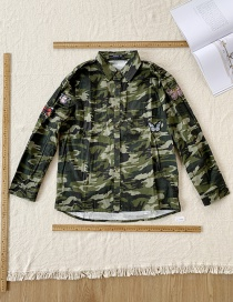 Fashion Camouflage Camouflage Embroidery Butterfly Shirt