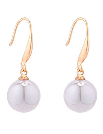 Fashion Gray Small Ball Pearl Earrings