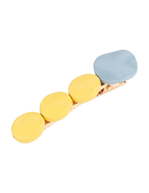 Fashion Yellow Painted Irregular Round Hair Clips