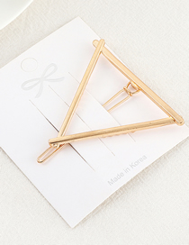 Fashion Kc Gold Triangle Hair Clip