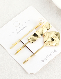 Fashion Kc Gold Lotus Leaf Hair Clip Set