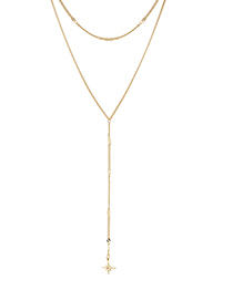 Fashion 14k Gold Plated Gold Chain - Starburst