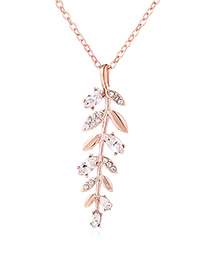 Fashion Gold Austrian Crystal Chain - Vanilla Leaves (rose Gold)
