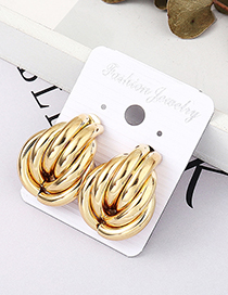 Fashion Kc Gold Inflatable Earrings