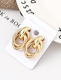 Fashion Kc Gold Grain Earrings