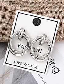 Fashion White K Snake Skin Earrings