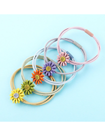 Fashion Color Sunflower Hair Ring