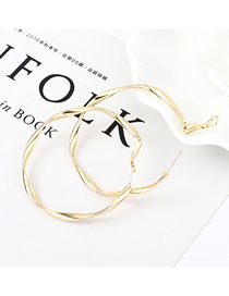 Fashion 14k Gold Gold Plated Gold Matte Semicircular S925 Silver Needle Stud Earrings