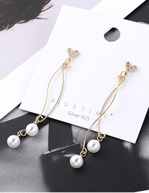 Fashion Gold Plated Gold Small Love Fringed S925 Silver Needle Earrings