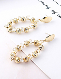 Fashion 14k Gold Plated Gold Small Round Hollow S925 Silver Needle Earrings