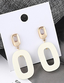 Fashion White Frosted Round Earrings