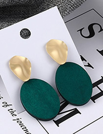 Fashion Gold Round Earrings