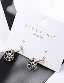 Fashion Gold Plated Gold Sunflower S925 Silver Needle Earrings