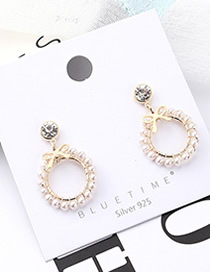 Fashion 14k Gold Plated Gold Butterfly Knot S925 Silver Needle Earrings