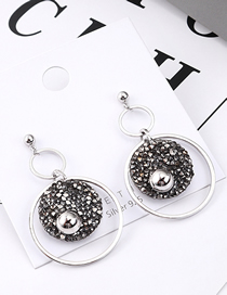 Fashion Platinum Plated Gold Circle S925 Silver Needle Earrings