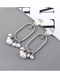 Fashion Platinum Plated Gold Pearl Hollow S925 Silver Needle Stud Earrings