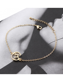 Fashion 14k Gold Crystal Elk Bracelet