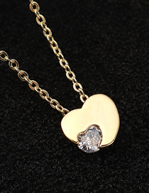 Fashion 14k Gold Heart-moving Zircon Necklace