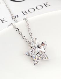 Fashion White Star Crystal Necklace