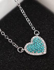 Collar De Cristal Del Corazón Del Cielo