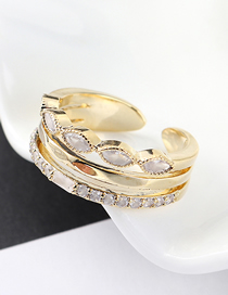 Fashion 14k Gold Zircon Ring - Comet River