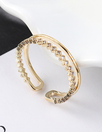 Fashion 14k Gold Zircon Ring - Glory
