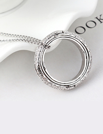 Fashion Platinum Plated Gold Sweater Chain - Astronomical Ball Necklace