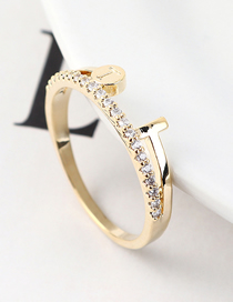 Fashion 14k Gold Zircon Ring - Charm Ring