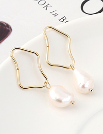 Fashion K Gold Plated Gold Irregular Square Hollow S925 Silver Needle Stud Earrings