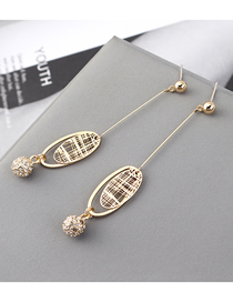 Fashion K Gold Plated Gold Ball S925 Silver Needle Stud Earrings