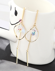 Fashion Gold Plated Gold Oval Hollow Tassel S925 Silver Needle Stud Earrings