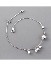 Fashion (platinum) Pearl Zircon Bracelet