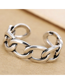 Fashion Silver Chain Opening Ring