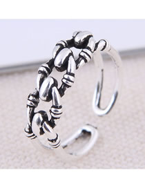 Fashion White K Open Ring