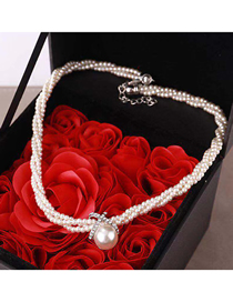 Fashion White Pearl Short Necklace