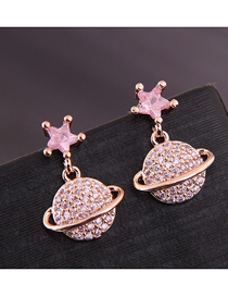 Fashion Gold Copper Micro-inlaid Zirconium Stud Earrings
