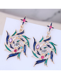 Fashion Color Metal Phoenix Earrings
