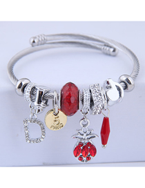 Fashion Red Metal Pineapple Bracelet