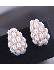 Fashion Beige Pea Pearl Earrings