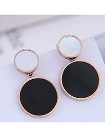 Fashion Titanium Steel Rose Gold Titanium Steel Stud Earrings