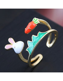 Fashion Golden Rabbit Turnip Drip Ring