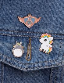 Fashion Color Unicorn Chinchilla Dropper Brooch