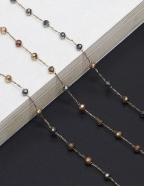 Fashion Gold Crystal Chain Glasses Chain
