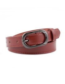Fashion Red Brown Pin Buckle Belt