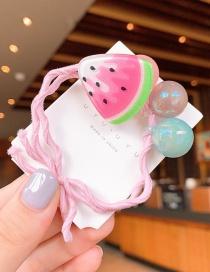 Fashion Watermelon Cartoon Fruit Beaded Hair Circle